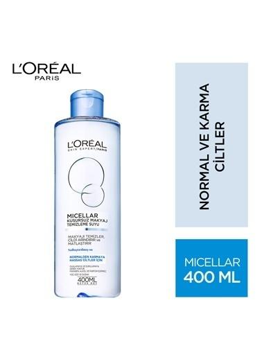 L'Oréal Paris Loreal Mıceller Kusursuz Makyaj Temizleme Suyu Normal Karma Cilt 400 Ml Renksiz